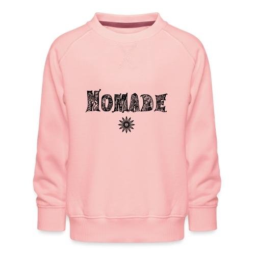 Nomade (en noir) - Sweat ras-du-cou Premium Enfant
