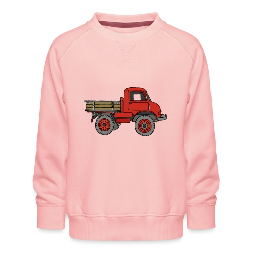 Roter Lastwagen, LKW, Laster - Kinder Premium Pullover