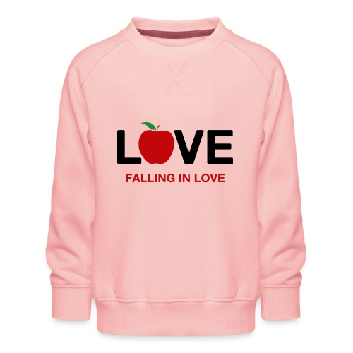 Falling in Love - Black - Kids' Premium Sweatshirt
