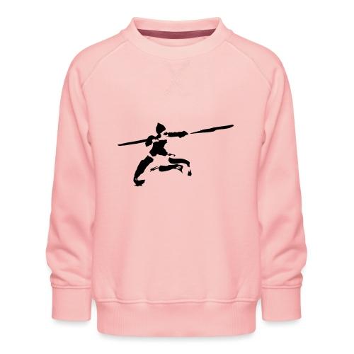 Kungfu stick fighter / ink - Kids' Premium Sweatshirt