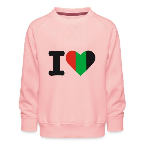 hartjeroodzwartgroen - Kinderen premium sweater