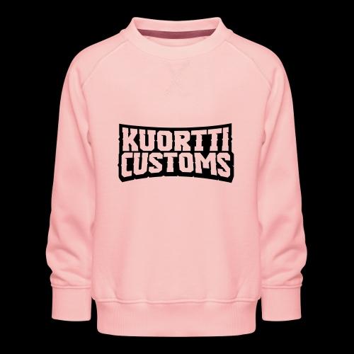 kuortti_customs_logo_main - Lasten premium-collegepaita