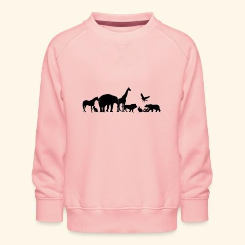 Silhouetten von Tieren - Kinder Premium Pullover