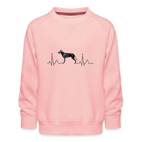 ECG met hond - Kinderen premium sweater