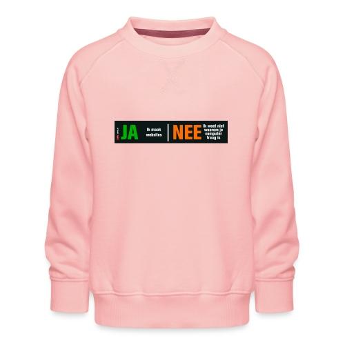 Ja ik maak websites - Kinderen premium sweater