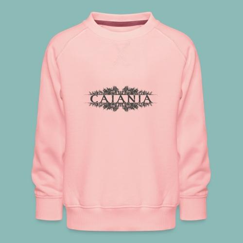 Caiania-logo harmaa - Lasten premium-collegepaita