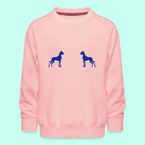 Zwei Deutsche Doggen gegenüber - Kinder Premium Pullover