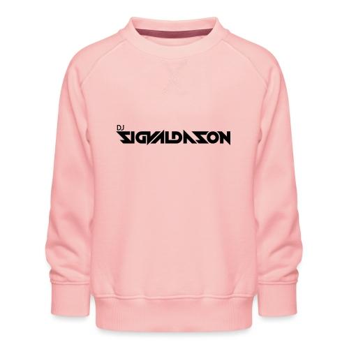 DJ logo sort - Børne premium sweatshirt