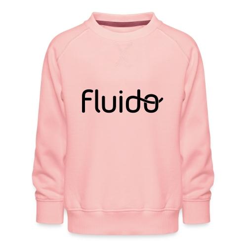 fluidologo_musta - Lasten premium-collegepaita