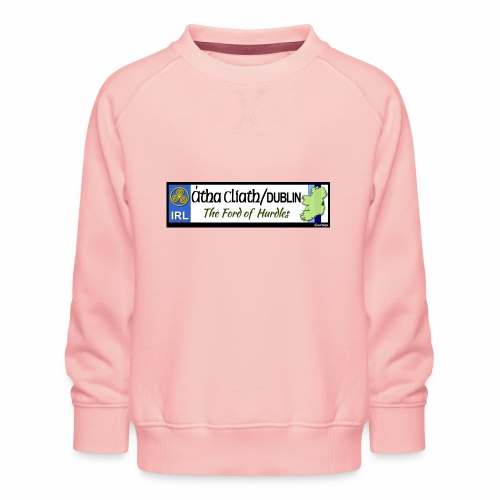 CO. DUBLIN, IRELAND: licence plate tag style decal - Kids' Premium Sweatshirt