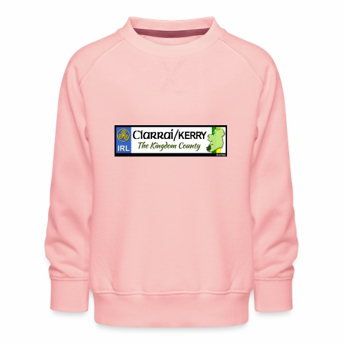CO. KERRY, IRELAND: licence plate tag style decal - Kids' Premium Sweatshirt