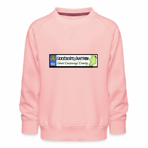 CO. ANTRIM, NORTHERN IRELAND licence plate tags - Kids' Premium Sweatshirt