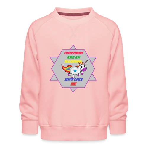 Unicorn with joke - Kids' Premium Sweatshirt
