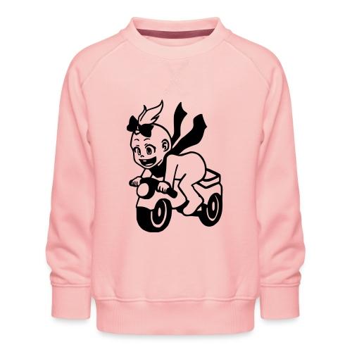 Mädchen auf Motorrad - Kinder Premium Pullover