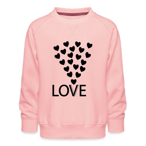 LOVE Herz - Kinder Premium Pullover