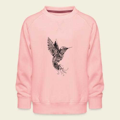 Großer Design-Kolibri - Kinder Premium Pullover
