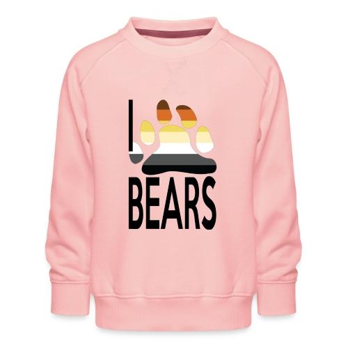 I love bears - Sweat ras-du-cou Premium Enfant