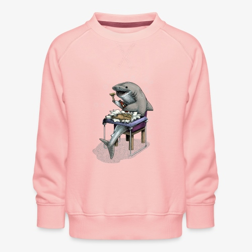 Shark's Fish and Chip dinner - Kids' Premium Sweatshirt