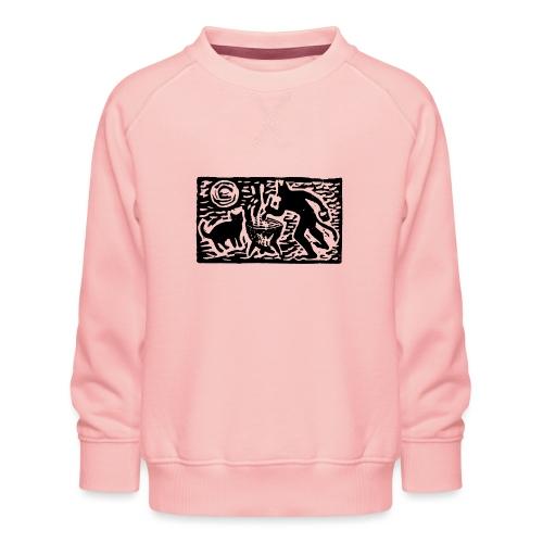 Teufel mit Katze - Kinder Premium Pullover