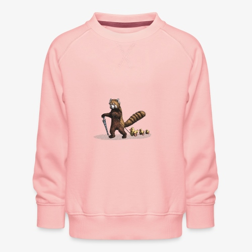 Red Panda with Ducks - Kids' Premium Sweatshirt