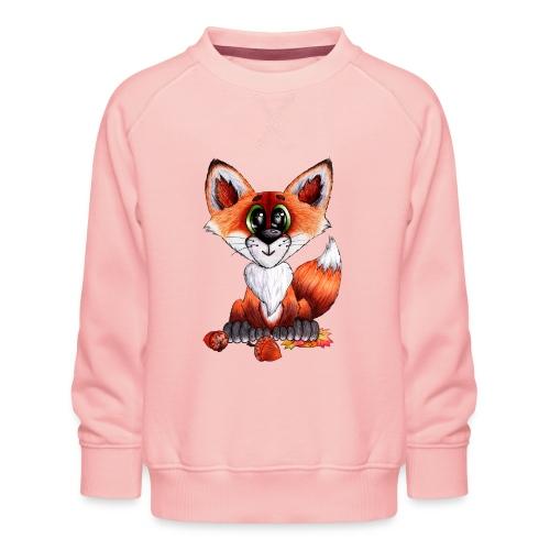 llwynogyn - a little red fox - Kinder Premium Pullover