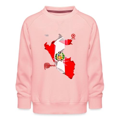Mapa del Perú, Bandera y Escarapela - Sudadera premium para niños y niñas