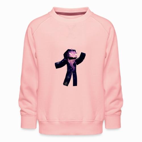 Skin Rising Pose with Shaykh Gaming on Back - Kids' Premium Sweatshirt