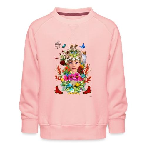Lady spring -by- t-shirt chic et choc - Sweat ras-du-cou Premium Enfant