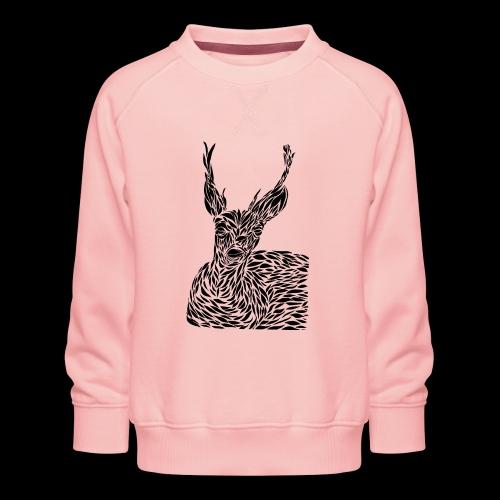 deer black and white - Lasten premium-collegepaita