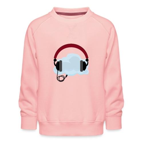 Headphone With Cloud - 21st Century Music Listenin - Børne premium sweatshirt