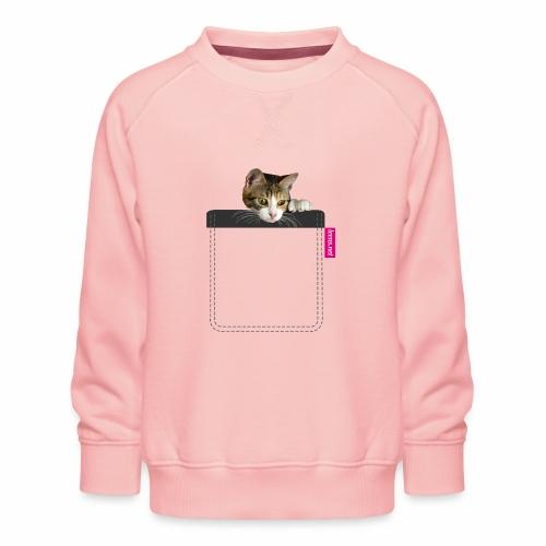 Kätzchen in Brusttasche - Kinder Premium Pullover