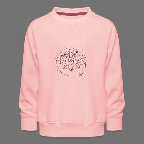 SEO-strategi No.1 (sort) - Børne premium sweatshirt