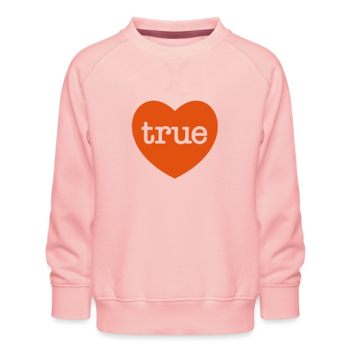 TRUE LOVE Heart - Kids' Premium Sweatshirt