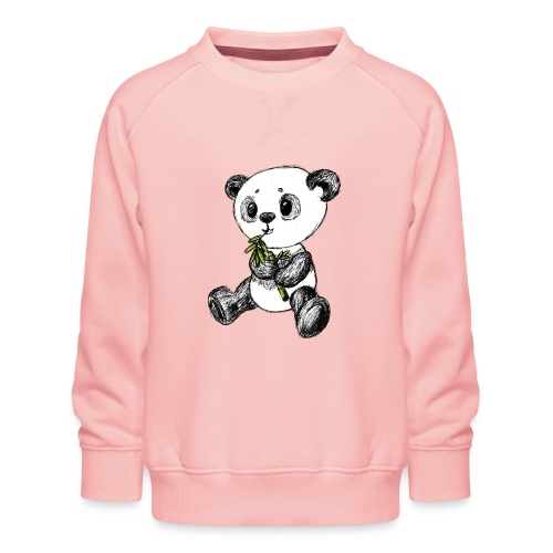 Panda bjørn farvet scribblesirii - Børne premium sweatshirt
