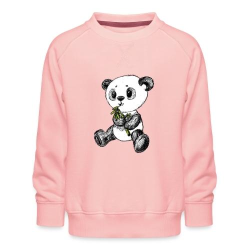 Panda Karhu värillinen scribblesirii - Lasten premium-collegepaita