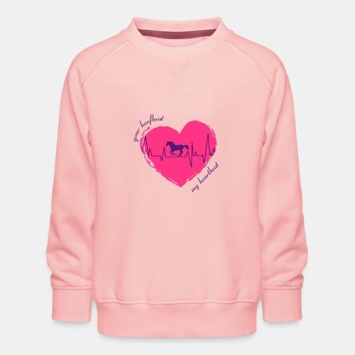 your hoofbeat is my heartbeat galopp_pferd - Kinder Premium Pullover