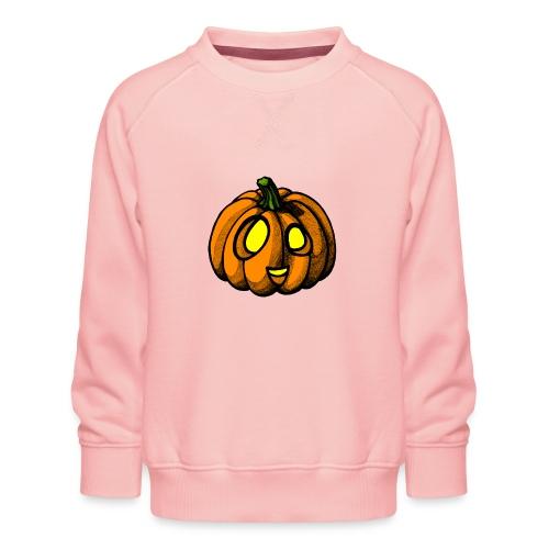 Pumpkin Halloween scribblesirii - Børne premium sweatshirt