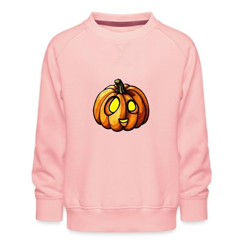 Pumpkin Halloween watercolor scribblesirii - Kids' Premium Sweatshirt