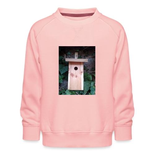 Der Nistkasten - Luxus für den Garten-Vogel - Kinder Premium Pullover