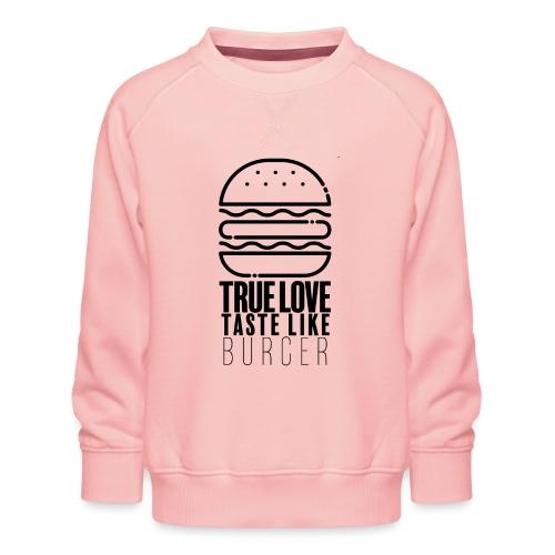 Burger Lover - Sweat ras-du-cou Premium Enfant