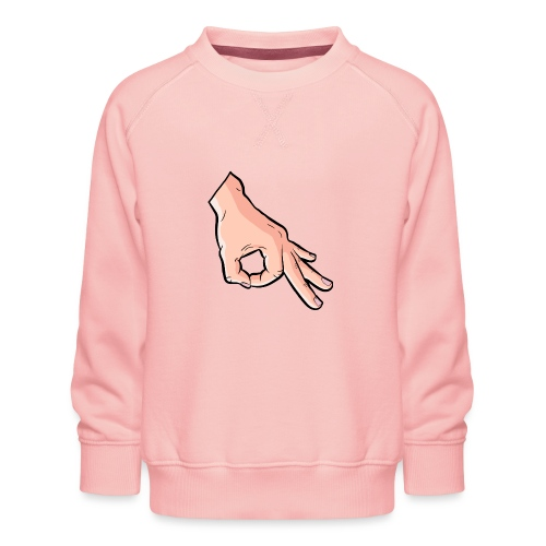 The Circle Game Ok Emoji Meme - Kids' Premium Sweatshirt