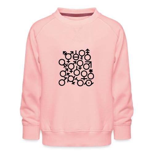 Multi Gender B/W - Kinderen premium sweater