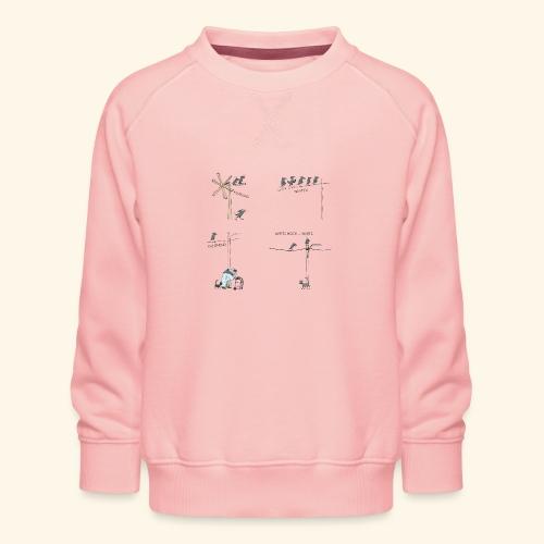 Krähe_warten - Kinder Premium Pullover