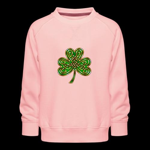 Celtic Knotwork Shamrock - Kids' Premium Sweatshirt