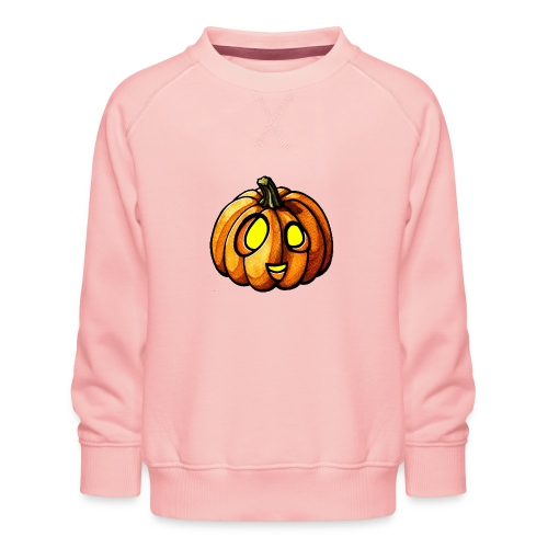 Pumpkin Halloween watercolor scribblesirii - Kinder Premium Pullover