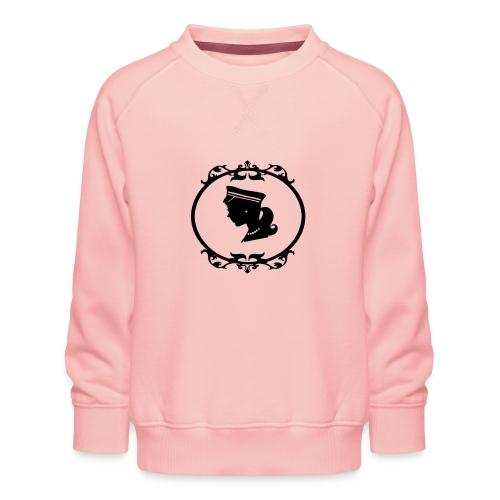 Mädel oval 1 farbig - Kinder Premium Pullover
