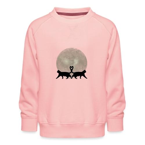 Cats in the moonlight - Kinderen premium sweater