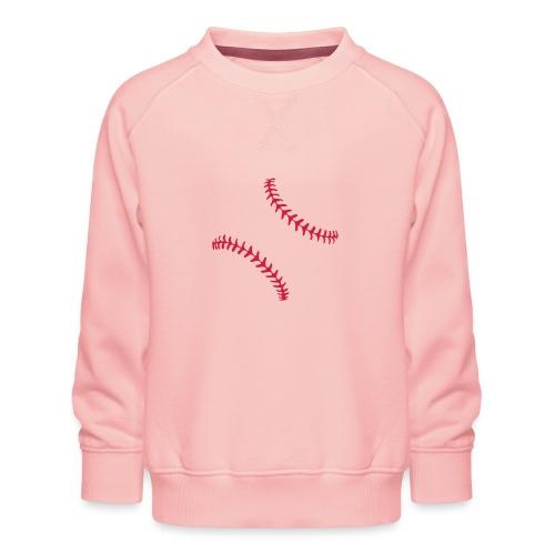 Realistic Baseball Seams - Kids' Premium Sweatshirt