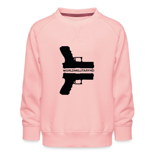 WorldMilitaryHD Glock design (black) - Kinderen premium sweater