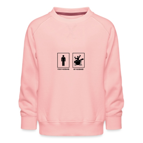 MY HUSBAND DRUMMER - Kinderen premium sweater